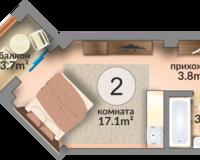 Апартамент 24.7 кв. м